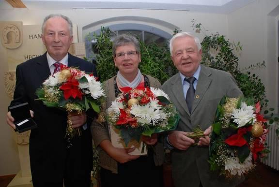 Günter Schüßler, Katrin Meichsner und Jaromir Pobucky nach der Preisverleihung