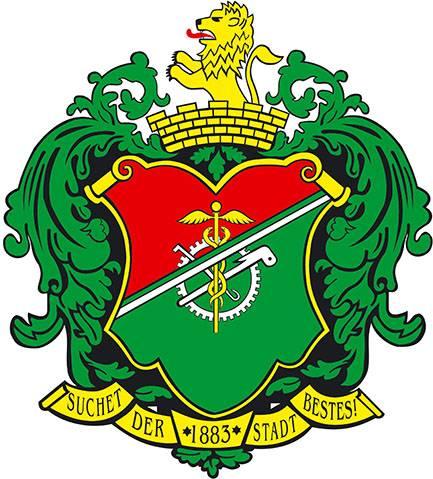 Das Wappen der Stadt Limbach-Oberfrohna.