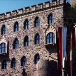 Die Kästenburg (mittelalterliche Bezeichnung für Kastanienburg), errichtet im innersten Bezirk eines germanischen Wodan- und römischen Merkurheiligtums, im 19. Jahrhundert in Maxburg und Hambacher Schloß umgetauft, bildete mit dem Schlößchen Geispitz und einer Wehranlage auf dem Heidelberg ein strategisches Dreieck, unter dessen Obhut sich Hambach entwickelte.