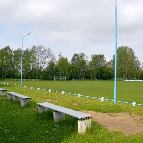 Sportplatz Pleißa Blick in südliche Richtung