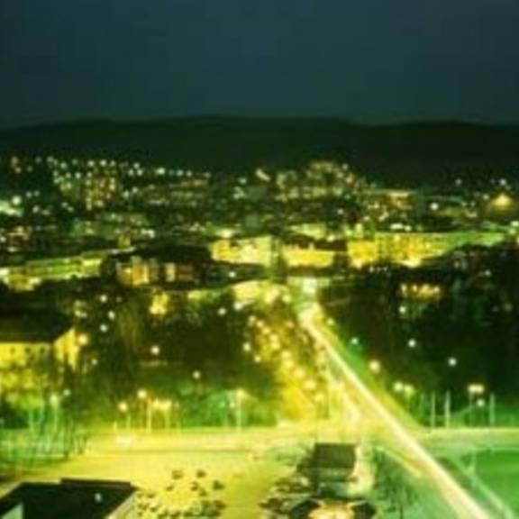Zlin bei Nacht