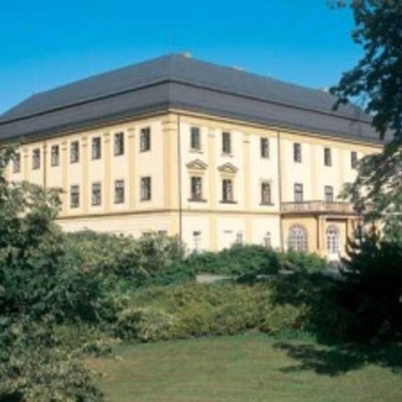 Das Schloss steht anstelle einer mittelalterlichen Befestigung. Ursprünglich im Renaissancestil errichtet, wurde das Gebäude im 18. Jahrhundert barock umgebaut.
